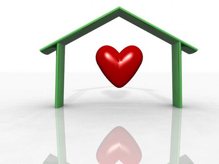 st valentin: one heart Stock Photo