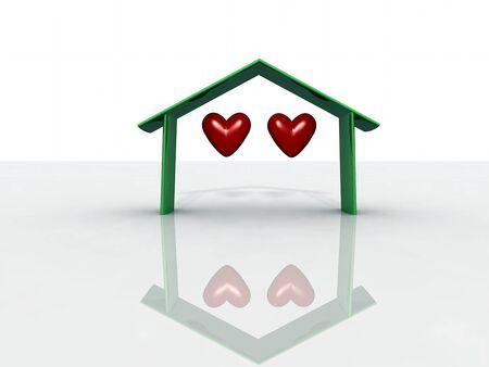 st valentin: two heart foe a house