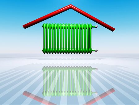 illustration of house warming Stock Photo