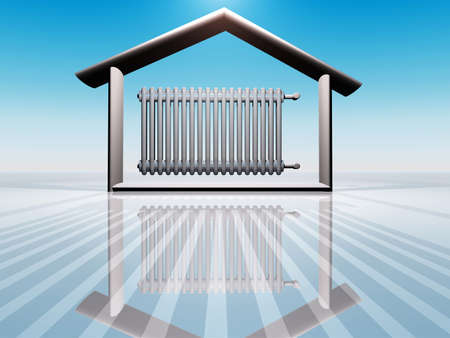 illustration of house warming Stock Illustration - 9843468