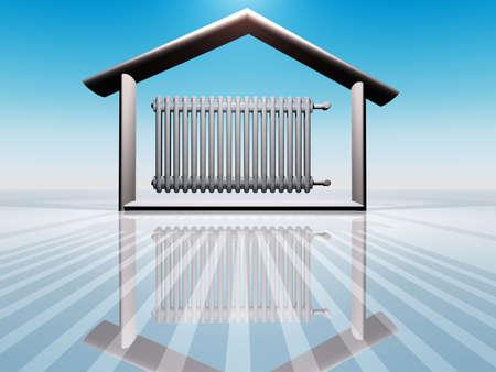 radiador: Ilustraci�n del calentamiento de casa