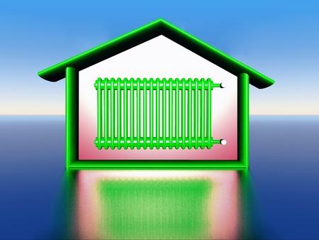 illustration of house warming Standard-Bild