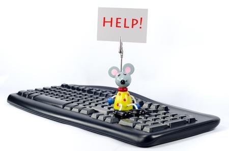 Een humoristisch verzoek om hulp Stockfoto