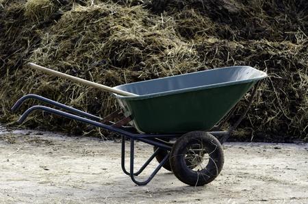 wheelbarrow on a farm Stock Photo