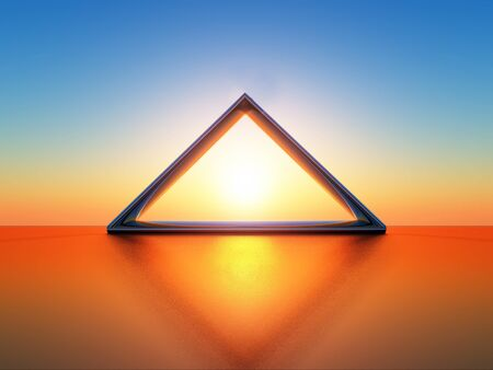 occultism: triangle Stock Photo