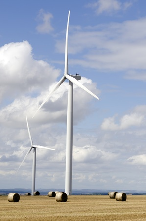 meadowland: wind energy Stock Photo