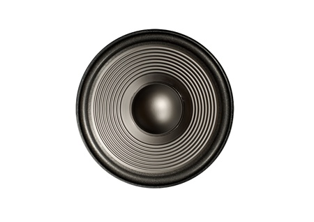 speaker diaphragm cone isolated on a white background photo