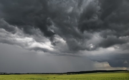 stormy weather on the countryside
