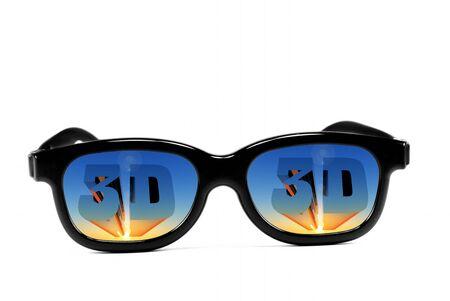3d: 3d glasses