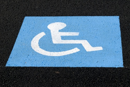 reserved: place reserved for the handicapped