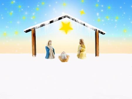 illustration of the nativity scene illustration