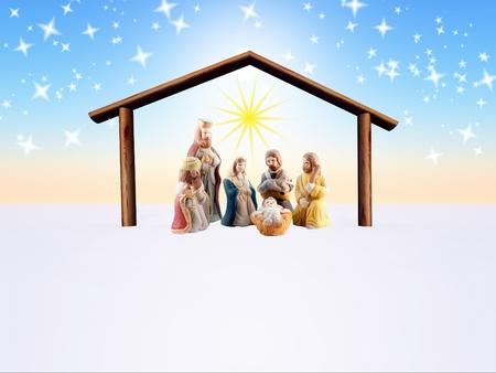 illustration of the nativity scene