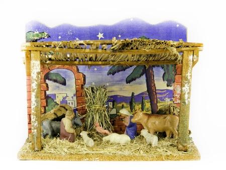 an old christmas crib photo