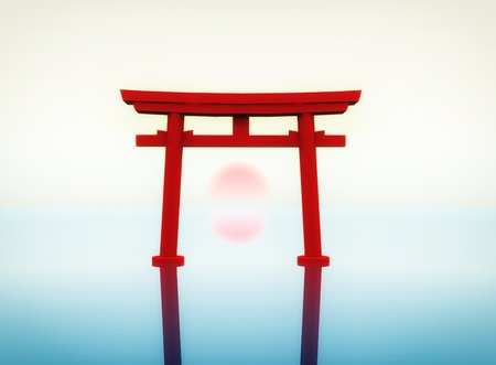 torii: illustration of a japanese torii