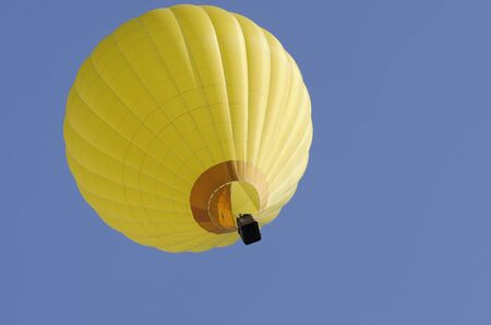 yellow hot air balloon photo