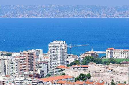 burgh: the town of marseille Stock Photo