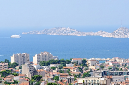 the town of Marseille in the  southeastern of france photo