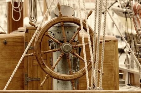 oude zeilboot roer