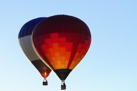 two hot air balloons photo