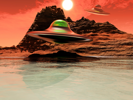 invaders: science fiction illustration