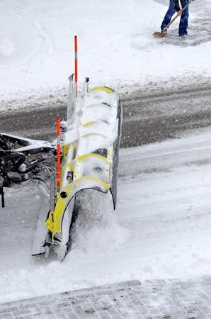 snowplow in action photo