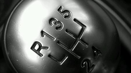 Bovenaanzicht van een handleiding versnellingspook