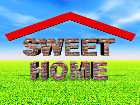 illustration of sweet home,generated by computer illustration