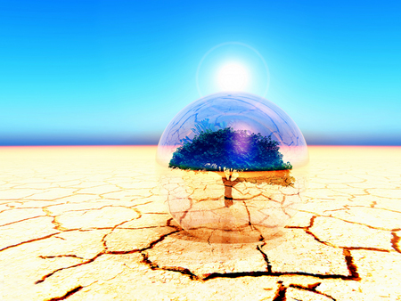 aridness: illustration of global warming Stock Photo