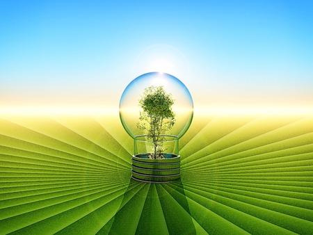 frendly: ilustration of energy saving