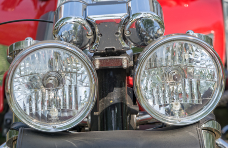 headlight: motorcycle headlight front view