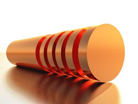 cilindro: cilindro de cobre en rodajas