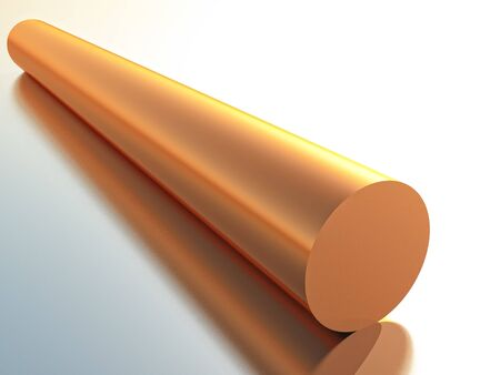 copper wire: a tube of copper in 3d rendering Stock Photo