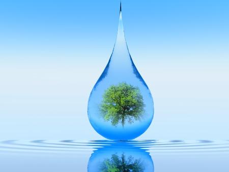 een enkele druppel vallen in het water