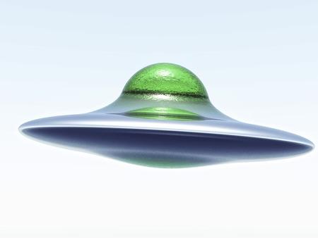 disco volante: singolo disco volante illustrazione