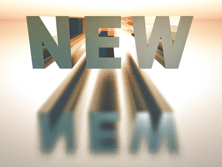 newness: the word new in 3 d rendering