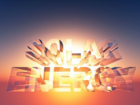 transparent 3d: the word energy in transparent 3d  letters Stock Photo