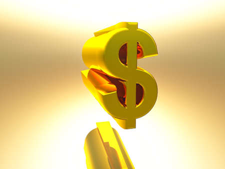 3 d: the dollar sign in 3 d rendering