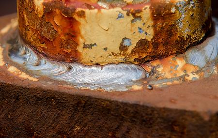 welded: welded metal pieces