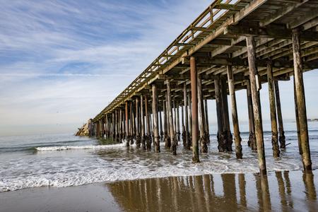 The aptos pier in california Stock Photo