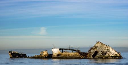 Shipwrecked in aptos california Stock Photo