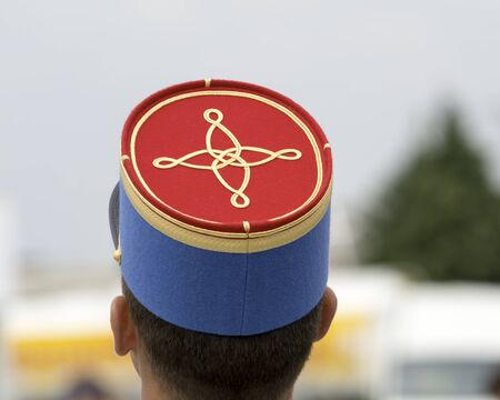fench military kepi on man head Stock fotó