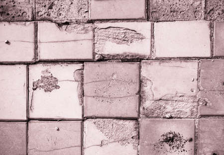 Texture of marble pink tiles, renovation in building, background Stok Fotoğraf