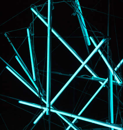 abstract blue fluorescent background