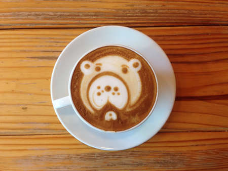 art: Cup of coffee , Latte art