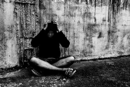 Conceptual de la adicción a las drogas Foto de archivo