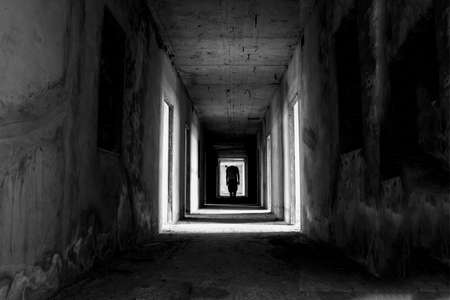 nightvision: Danger horrible of abandoned buildings image of conceptual Stock Photo