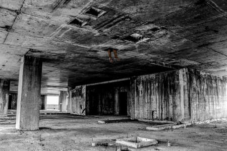 horrible: Danger horrible of abandoned buildingsimage of conceptual