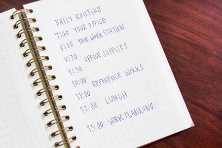 daily routine: Daily routine. Daily Habit note book