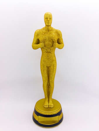 Oscar, The souvenir for decoration and the memory of the journey. Isolated on white background with clipping path. 報道画像