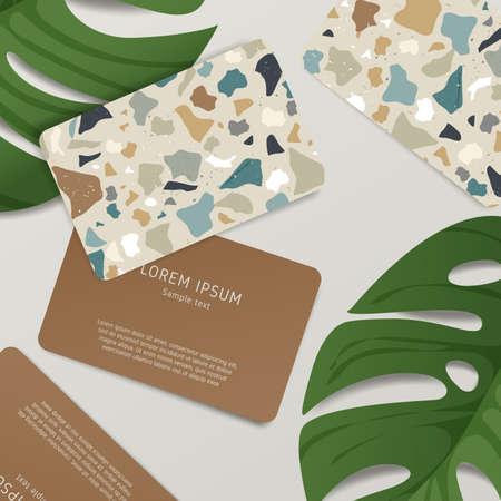 Beautiful Terrazzo Pattern on Business Card Template